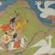 The struggle between Krishna and the demon Nikumbha.