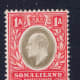 Stamp issued for Somaliland during the reign of King Edward VII.  Stamp was issued in 1905.