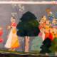 Confidante with Rhada, narrating to Khrisna dalliance with Gopies.based on Jaydeva's Gita Govinda.  1730 A.D.