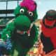 Mascots at Camden Yards.