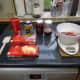 All the ingredients laid out on the work surface and ready