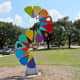 """Sculpture #3, Where Art Meets Science by Fariba Abedin on the """"Obstacle Art Path"""""""