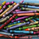 Crayons or paints with color