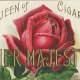 """Vintage Mother's Day card: Red rose cigar label """"Her Majesty"""""""