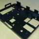 Sheet metal CNC bending, mild steel chassis, powder coated