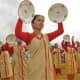 Jatinga girls perform the plate dance during the first International Jatinga Festival