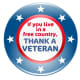 """Veterans Day clip art """"If you live in a free country, thank a  veteran"""""""