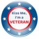 """Veterans Day clip art """"Kiss me, I'm a Veteran"""""""