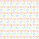 Free small hearts scrapbook paper design -- white background