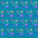 Free starburst scrapbook paper design -- teal background