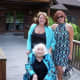 Bobbi, mom and I attended a friends wedding a few years ago. We didn't mean to color coordinate!