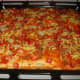 Voila! The fresh baked Filipino Style Hotdog and Beef Loaf pizza. Ready to be eaten.