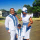 Modern Tswana bride and bridegroom