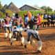 Tsonga-Shagaan wearing traditional clothes