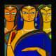 Three Pujarins by Jamini Roy