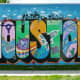 Greetings from Houston Mural by Daniel Anguilu