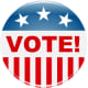 Election clip art: vote button