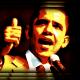 Barack Obama clip art -- thumbs-up