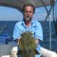 Gone Fishin Club Member Gary with a nice flathead catfish.