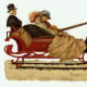 Vintage Christmas images: Victorian wintertime sleigh ride