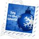 Snowflake ornament stamp.