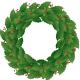 Plain holly wreath.