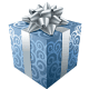 Blue Christmas present.