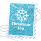 Christmas snowflake stamp.