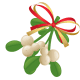 Mistletoe with ribbon.