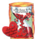 Vintage hearts in hourglass for Valentine's Day clip art