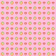 Baby scrapbook paper: pink with flowers and hearts -- small size