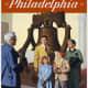 Philadelphia vintage travel poster -- Pennsylvania Railroad