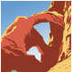 See America United States Travel Bureau vintage travel poster -- red rocks