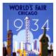 1934 World's Fair in Chicago vintage travel poster
