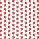 Free red chrysanthemum vintage flower scrapbook paper -- medium