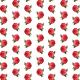 Free red chrysanthemum vintage flower scrapbook paper -- large