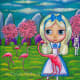"""""""Alice and the Flamingos"""" by Blonde Blythe (2004)"""