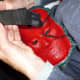 The inside has been painted an attractive red and now the webbing is sewed on to make the tapes more comfortable.