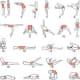 Yoga Chart of Different Exercises