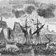 1758 engraving by John Henry Walker: The Battle of Fort Frontenac, won by the British in the Seven Years War.