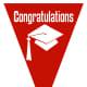 Graduation flag -- red