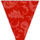 Free printable red floral graduation flag