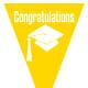 Graduation flag -- yellow