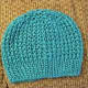 I used Caron Simply Soft Yarn in Blue mint to make this pretty pattern.