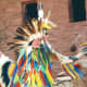 Eagle dance by Native American at Manitou Springs Cliff Dwellings