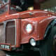 Close up of front of a Routemaster Bus