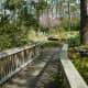 Walking through Mercer Arboretum
