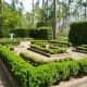 Formal garden with boxwood at Mercer Arboretum