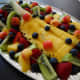 Fruit tray with pineapple