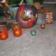 Painted pumpkin and jar pumpkins in a flash.